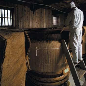 静置発酵法での酢造り