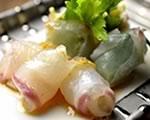 鯛のカルパッチョあまおうソース